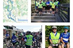 Der RV Edelweiß freute sich über 5 STADTRADELN-Gästefahrer, die mit zur Rheinaue gefahren sind