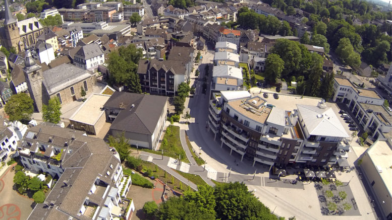 Königshofplatz Mettmann Luftbild