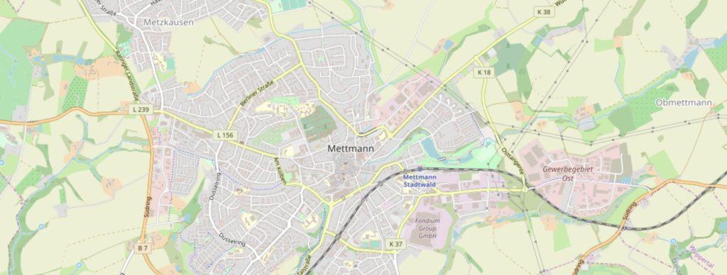 OpenStreetMaps Mettmann