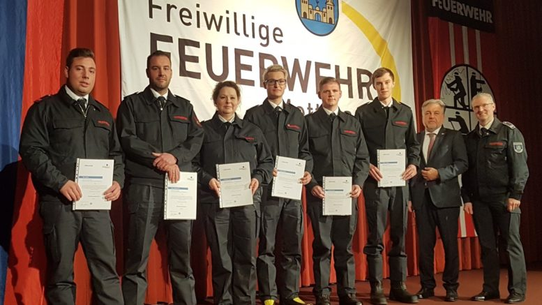 Beförderungen Feuerwehr Jubiläum