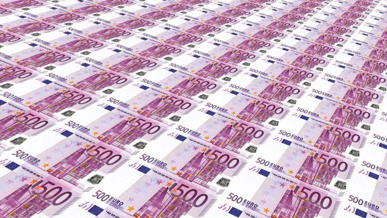 Gelscheine, 500 Euro-Scheine