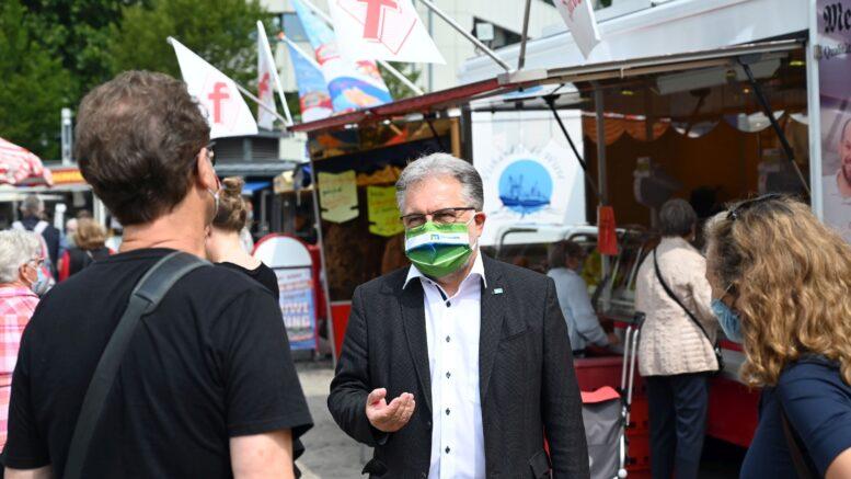 Marktgespräch mit Bürgermeister Thomas Dinkelmann
