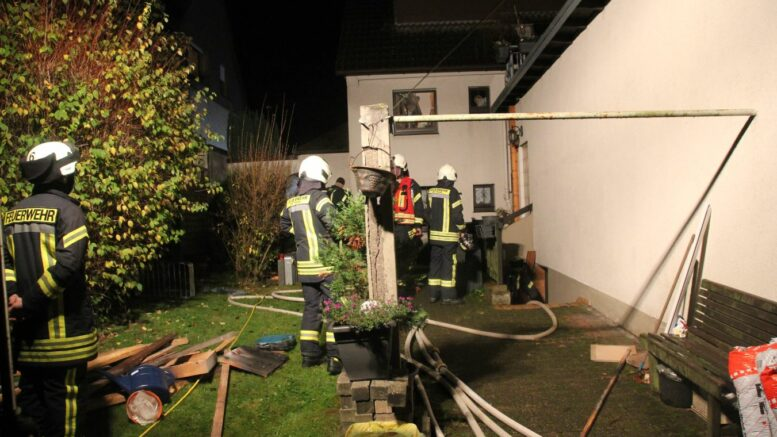 Feuerwehr-Einsatz (Verpuffung