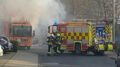 Sperrmüllwagen brennt