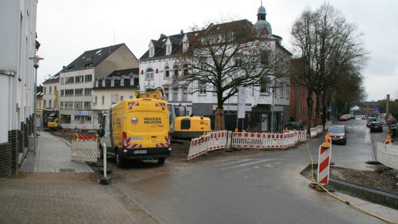 Die Baustelle an der Bismarck- und der Gartenstraße