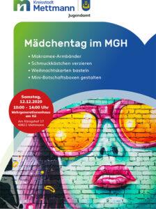 Mettmann Mädchentag Dezember 2020 Flyer