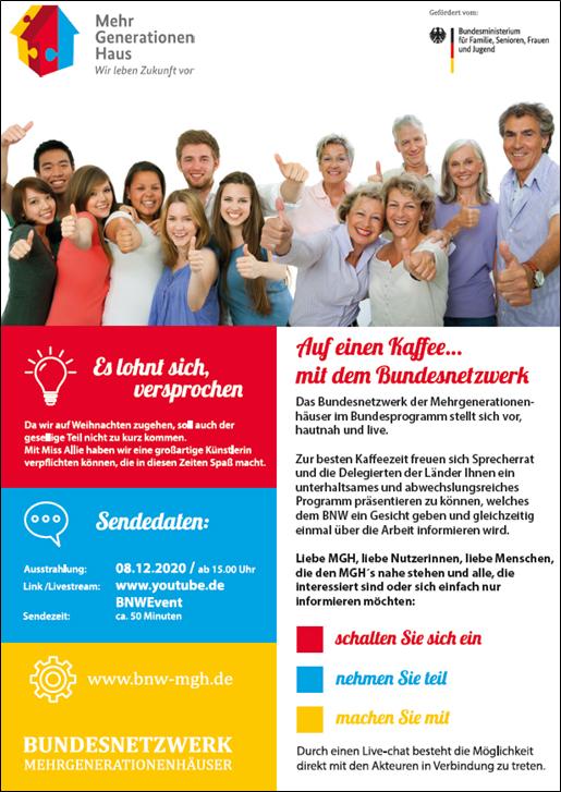 Bundesnetzwerk Mehrgenerationenhäuser Flyer