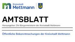 Amtsblatt der Kreisstadt Mettmann