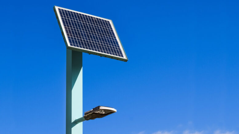 Solar Straßenleuchte