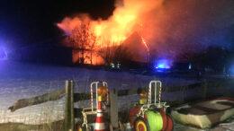Scheunenbrand in Metzkausen
