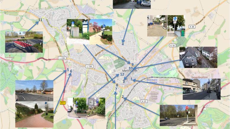 Radverkehr Karte Mettmann