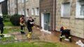 Feuerwehr pumot vollgelaufene Keller leer